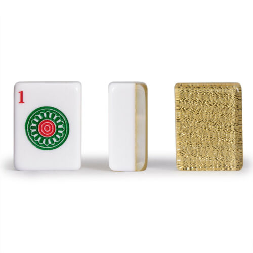"""/""""Golden Fortune/"""" Yellow Mountain Imports Set of 166 American Mahjong Tiles"""