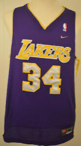 71c1d3b9e96 Nike Los Angeles Lakers Jersey 34 Shaquille O Neal NBA Mens XL ...