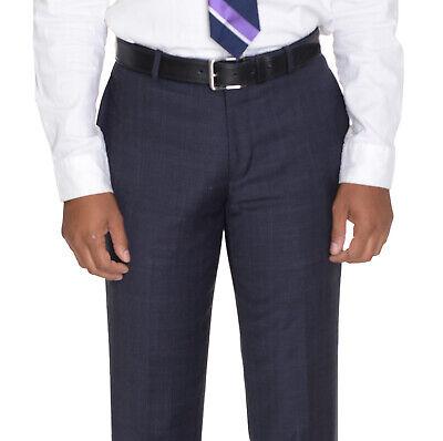 Bar III Slim Fit Light Gray Flat Front Pre-Hemmed Wool Blend Dress Pants