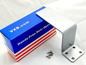 Push-Pull-Heavy-Duty-Steel-Arm-Foot-pull-Hands-Free-Door-Handle-Opener-w-Screws