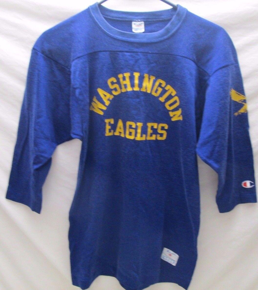 739a70fda Vintage Washington Eagles Jersey Size M Champion bluee gold Eagle Shirt Mens