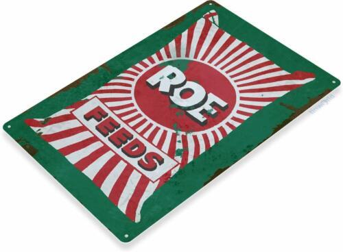 ROE Feeds Farming Rustic Retro Tin Metal Sign