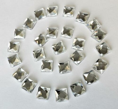 50! correctif 8 mm verre shisha miroir carrés à coller 4 d i y carte ou tissu