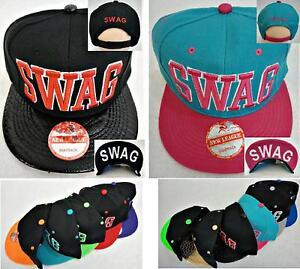 23062b699 Details about SWAG SNAPBACK HAT 2-TONE FASHION HIP HOP ADJUSTABLE FLATBILL  CAP