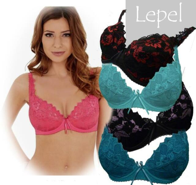 32DD Lepel Fiore Bra Plunge 93200 Underwired Padded Removable Pads Lingerie