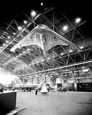 8X10 NASA PHOTO AA-869 ROGALLO PARAGLIDER WING ATTACHED TO A MERCURY CAPSULE