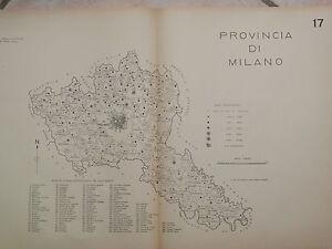 Vecchia-stampa-della-provincia-di-MILANO-del-d-Epoca-fascista-Regno-Italia-mappa