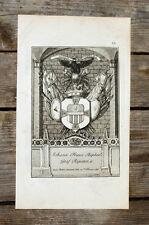1831 Wappen Michaelsorden Johann Franz Raphael Graf Ripanti Kupferstich
