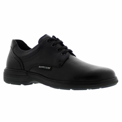 Mephisto Denys Black Mens Leather Laceup Lowprofile Comfort SoftAir Shoes