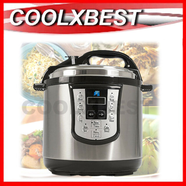 NEW ULTIMATE 6L ELECTRIC PRESSURE COOKER STAINLESS STEEL MULTI FUNCTION 1000w