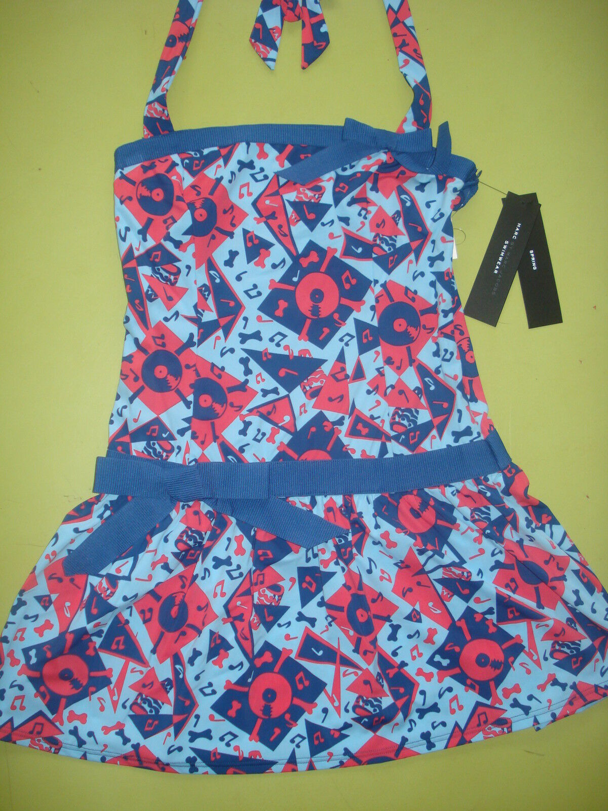 MARC JACOBS SWIMSUIT DRESS COVERUP RETRO DESIGN SMALL 173.00 NEW