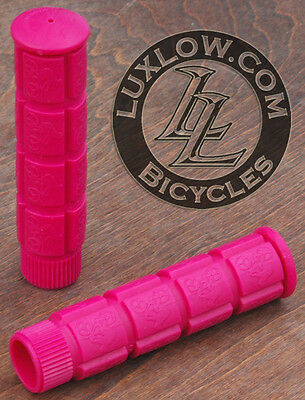 Hot Pink Fixie Track Bike Grips Fixed Gear Old School BMX Cruiser Bicycle Grip
