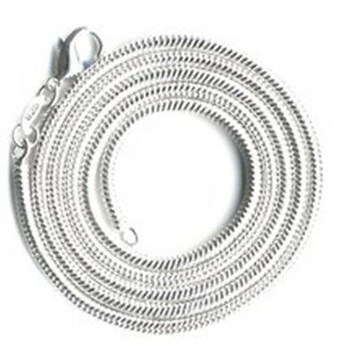 """Clever New 3mm Sterling Silver Plated Round Snake Necklace Lobster Claw Pick 20"""" 30"""" Profit Small Jewelry & Watches"""