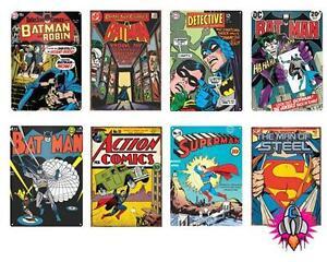 Oficial DC Comics Superman Batman cómic Tapas Placa De Pared Letrero de Metal de estaño  </span>