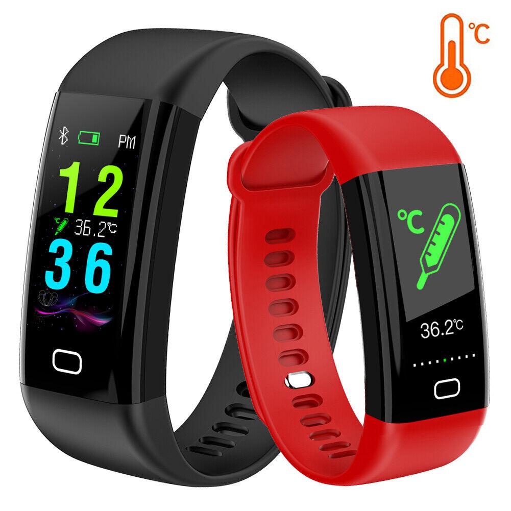 Smart Watch Sport Bracelet Fitness Tracker Body Temperature Heart Rate Monitor body bracelet fitness heart rate smart sport temperature tracker watch
