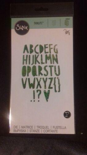 Sizzix Die Cutter Thinlits Paper Cuts Alphabet Fits Big Shot