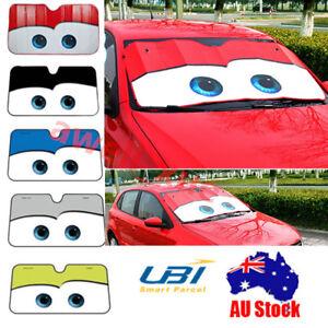 Details about Floodable Big Eye Pixar Cars Front Auto Car Windshield Sun  Sun Shade Visor Cover ede61b268ae