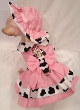 Cupcake Cowgirl Dog harness set/Dog dress/Dog harness/dog clothes xs,s,m,l