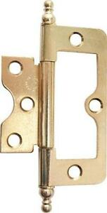 light duty New Brass Plated Flush Hinge 60mm door Pack of 20 ironmongery DIY
