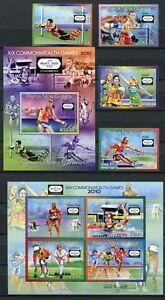 Papua-Neuguinea-2010-Sport-Sports-Boxen-Laufen-1582-85-Block-117-118-MNH