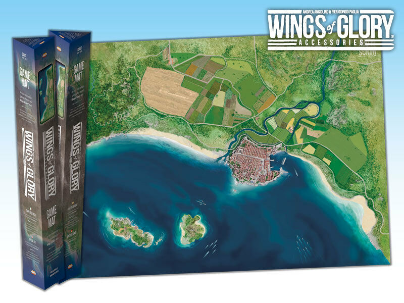 WINGS OF GLORY  GAME MAT - COAST WGA502C - SENT FIRST CLASS