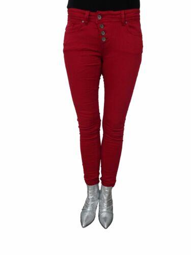 Stretch Malibu Jeans Buena Vista Rouge Pourpre Boyau w7tqzq