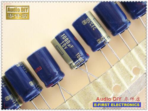 20pcs Panasonic FC Series 1000uF//10V Electrolytic Capacitor 1000uf 10v 10X16mm