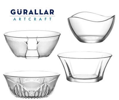 Kitchen Fruit Food Salad Dessert Bowl Table Serving Dish Clear Glass