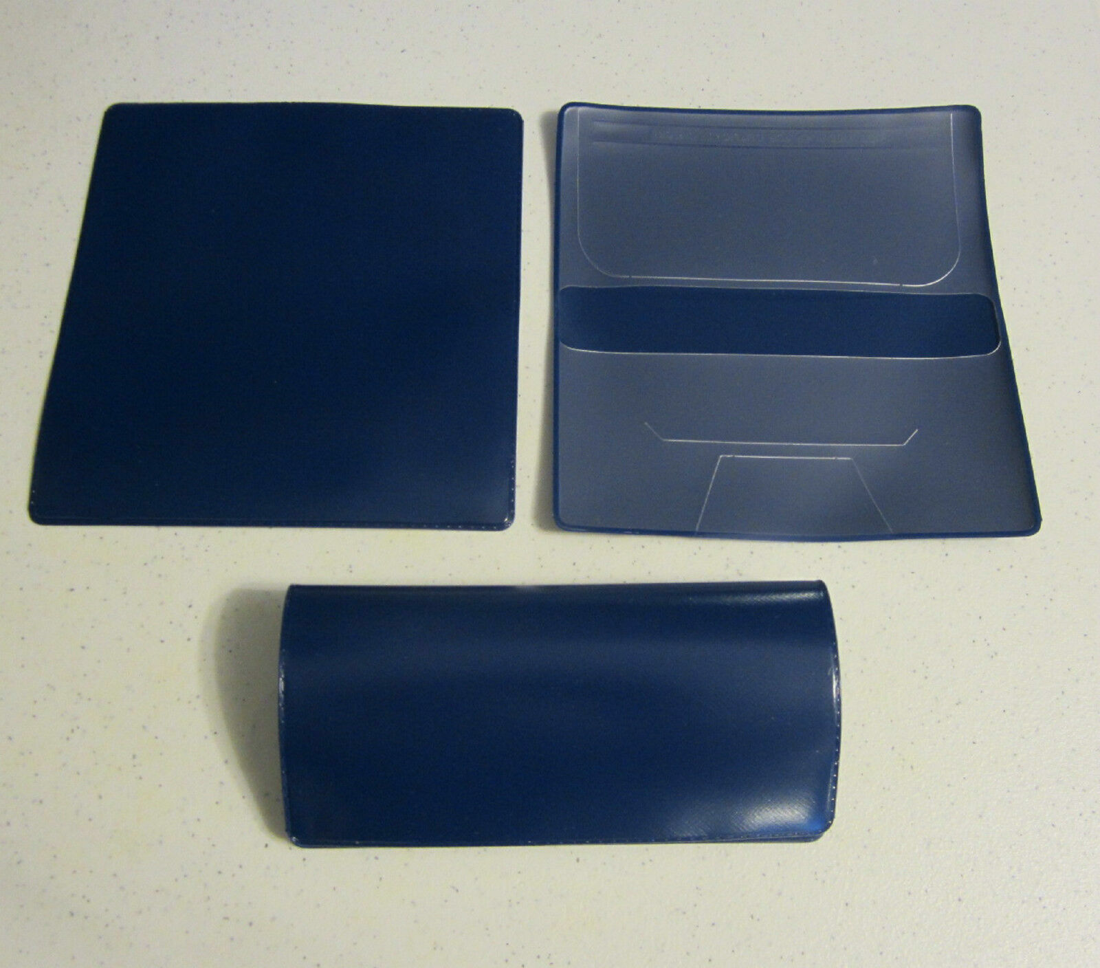 1 NEW Navy Blue VINYL CHECKBOOK COVER WITH DUPLICATE FLAP