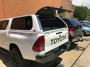 Image is loading Sliding-Side-Windows-HILUX-Dual-Cab-Ute-SR- & Sliding Side Windows HILUX Dual Cab Ute SR SR5 CANOPY 2015 ...