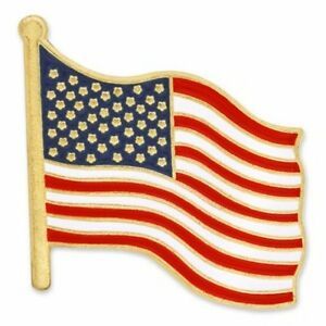 TIE or MORE LOT OF 10 AMERICAN FLAG PINS FOR LAPEL BRAND NEW! HAT