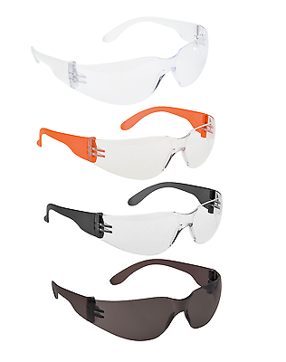 Eye Protection 1,6 or 12 Pairs Portwest PW38 Pan View Safety Spectacle Glasses
