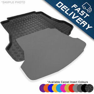 CARMATS4U.COM Tailored Boot Liner//Tray//Mat for Picanto III 2017 /& Removable Anti-Slip Beige Carpet Insert