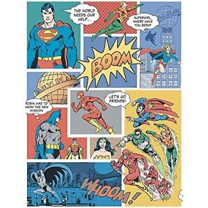 Image Is Loading Superhero Wallpaper Comic Book Superman Batman Bold Pop