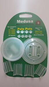 MEDUSA-Sizes-1-amp-2-Pole-Pots-Pellet-Cups-Carp-Feeder-Free-DVD-and-Box-Sticker