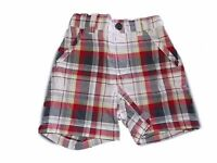 Boy's Gymboree First Play Date Plaid Red White Shorts 12 18 24 Months