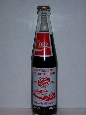 10 OZ GLASS COKE BOTTLES International Studebaker club limited edition