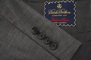 Brooks Brothers Golden Fleece Gray Plaid 100% Wool Sport Coat Jacket Sz 42L