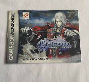 Nintendo-Gameboy-Advance-Castlevania-Harmony-Of-Dissonance-MANUAL-ONLY-GBA