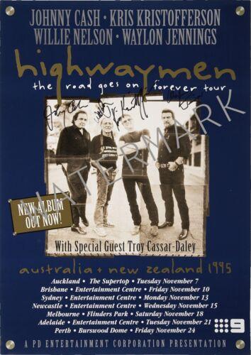 New Zealand tour Australia 1995 concert poster Highway men