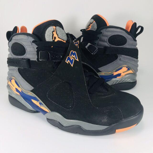 8784a368d9f24f Nike Air Jordan XIII 8 Retro Phoenix Suns 305381-043 Sz 8 Black Citrus  Orange