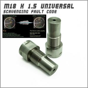 M18 x 1.5 O2 Oxygen Sensor Extension Spacer Extender Adapter Stainless Steel