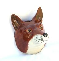Fox Wall Vase By Quail Pottery Hunting Shooting Gift Hand Painted Present