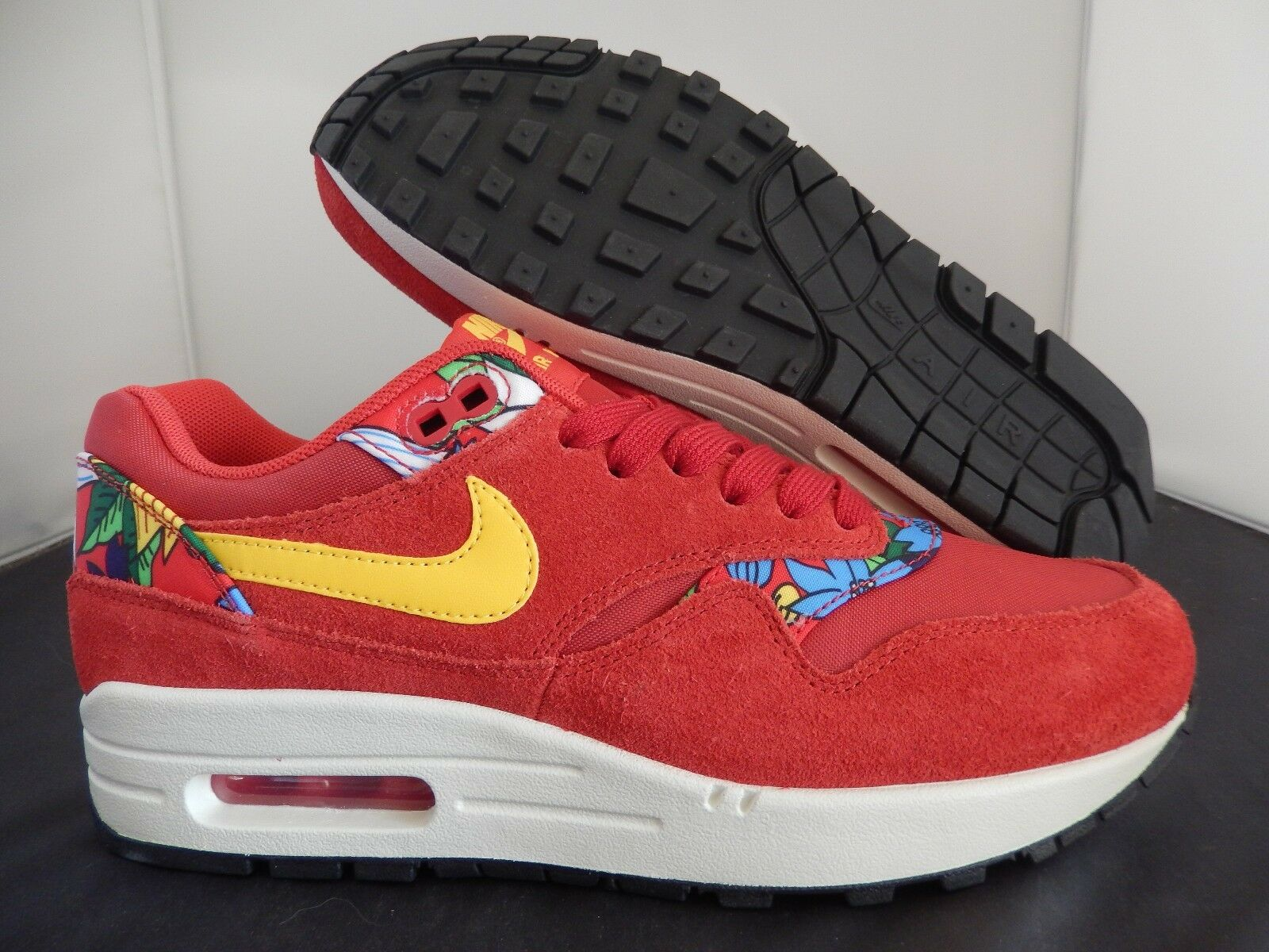 WMNS NIKE AIR MAX 1 PRINT FLORAL  ALOHA PACK  UNIVERSITY RED SZ 8 [528898-602]
