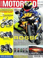 M0424 + Rossi und YAMAHA YZF-R6 (RJ09) + TOP-Test DUCATI 999 + MOTORRAD 24/2004