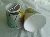 2 X 5 Candle Shades Made From Sanderson Dandelion Clocks Wallpaper