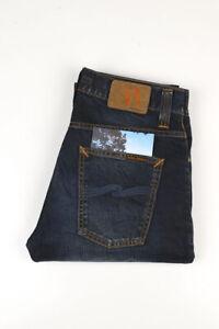33209 Nudie Jeans Grim Tim Night Worn Dunkelblau Herren Jeans Größe 30/32