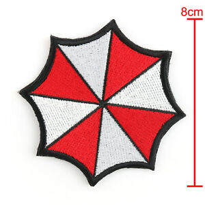 Resident-Evil-Embroidered-Badge-Patches-Red-Umbrella-Corporation-Hook-Patch-T5