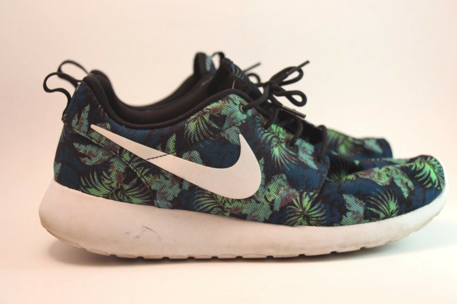 Nike Roshe Run (Space Blue Poison Green Palm Tree) US SZ 10