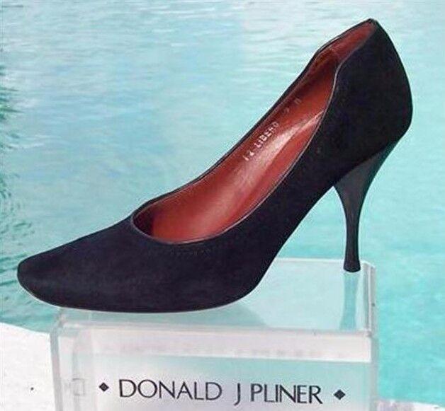 Donald Pliner Couture Suede Leather shoes Pump New Signature Sz 6.5 7.5  NIB